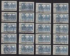 P9* Timbres France Oblitérés x20 (1974) (n°1806 : PALAIS DE JUSTICE DE ROUEN)