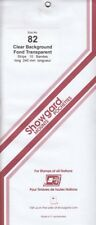 Showgard Clear Stamp Mount Strips 82mm 240mm For Canada Plate Blocks 10 Strips