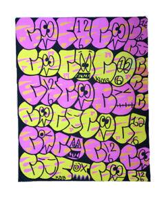 LONDON CLOK GRAFFITI CANVAS. MEDIUM SIZE. ORIGINAL ONE OF A KIND.