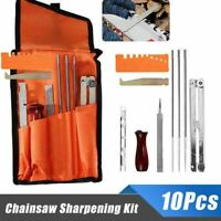10x Chainsaw Sharpening File Stihl Filing Kit Chain Sharpen Saw Files Tool