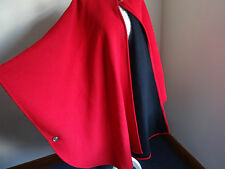 Absolutely stunning Red wool and cashmere designer cape. Warm, soft cloak/cape