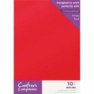 Crafter's Companion - Single Sided Single Colour Glitter Card 10 Sheet Pack