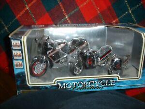 Motormax Diecast 3pk 1/24-1/18-1/12 Motorcycle Collection NIB