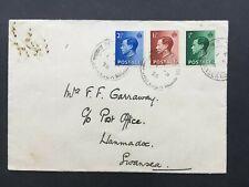 Gb 1936 Keviii Sg457/459/460 On Fdi Cover Postmark 1 Sp 36 Reynoldston (Wales)