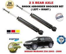 FOR NISSAN MURANO 3.5 4X4 2003-2008 NEW 2x REAR LEFT + RIGHT SHOCK ABSORBER SET
