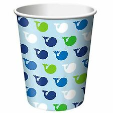 Ocean Preppy Paper Cups- Package of 8-NEW-9oz.