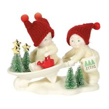 New Dept 56 Snowbabies Figurine Far Fresh Christmas Trees Red Beanie Hat Holiday