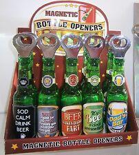 Beer Shaped Bottle Opener Fridge Magnet Magnetic Stainless Steel Drinking Fun
