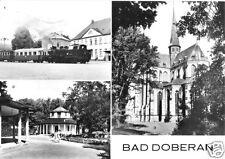 AK, Bad Doberan, drei Abb., u.a. Molli, 1981