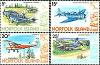 Norfolk Island 1980 SG240-243 Airplanes MNH