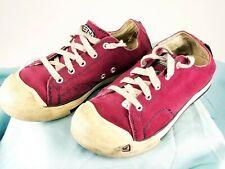 KEEN Burgundy Suede Canvas Lowtop Rubber Toe Walking Shoes US Women's Sz 4