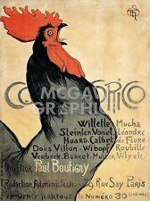 "STEINLEN THEOPHILE-ALEXANDRE - COCORICO, 1899 - ART PRINT POSTER 14"" X 11""(2845)"