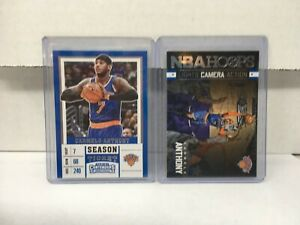 Carmelo Anthony (2) Collectible NBA Basketball Cards NM in Cases Hoops, Panini