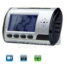 Spy Camera Alarm Clock Micro Hidden Nanny Cam Motion Detection Mini DV DVR Video