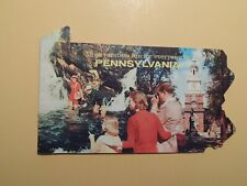 Pennsylvania vintage state tourist die cut booklet late 1950's