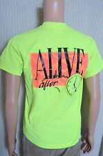 Vintage '90s 1991 Hickory Alive neon yellow Hickory NC souvenir t shirt M