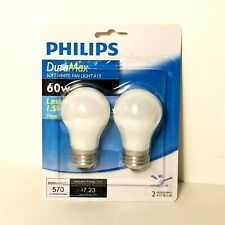 Philips Duramax Soft White Fan Light A-15 60w 2 pack Brand New