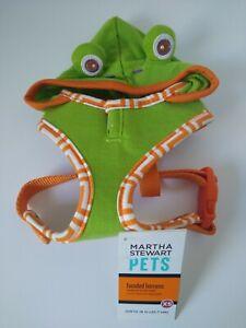 Martha Stewart Frog Hooded Adjustable Harness X-SMALL Dog Walking Harness NEW