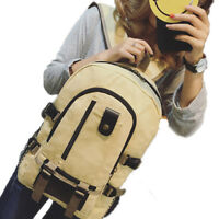 Mens Canvas Backpack School Rucksack Military Messenger Shoulder Bag Satchel