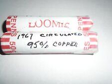 1967    LINCOLN ROLL  95 % COPPER  CIRCULATED