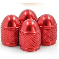 4 bouchon de valve en aluminium auto moto vélo jante roue voiture bmx pneu rouge
