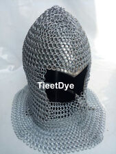 Chain mail Coif Round-neck Chainmail Armour Chain-mail hood