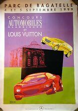 """Hand Signed Louis Vuitton Razzia Poster """"Parc de Bagatelle 1999"""" on Linen"""