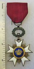 ORIGINAL WW1 Vintage BELGIAN ORDER of the CROWN BELGIUM MEDAL AWARD CROSS