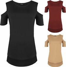Polyester Patternless Asymmetric Tops & Shirts for Women