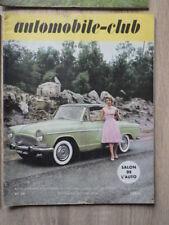 4 x Revues AUTOMOBILE CLUB Année 1958 Nr 31 33 34 35 dont Salon Auto