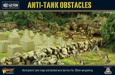 BOLT ACTION Obstacles anti-tank 28mm (plastique & métal)