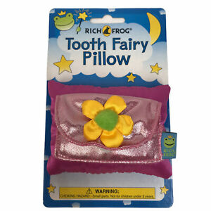 Tooth Fairy Pink Pillow Girl Yellow Flower Kids Loose Teeth Rich Frog Bedtime