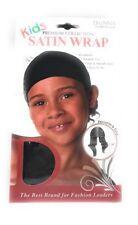 Donna Kids Satin Wrap Cap #11200 Color - Black
