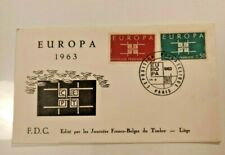 FDC  EUROPA 1963, EXPOSITION PHILATÉLIQUE, PARIS 1963 CEPT