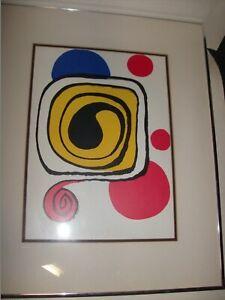 "Alexander Calder ""Spiral II"" Framed Rare Original Lithograph w/COA 1971 Mourlot"