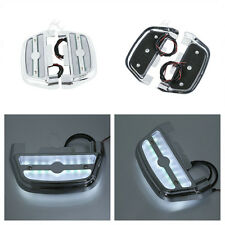 LED Passenger Footboard Floorboard Peg Cover For Harley Road King Glide Softail