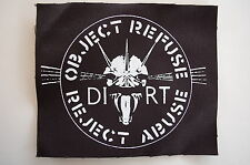 "Dirt Cloth Patch Sew On Badge Crust Punk Rock Music Doom Approx. 5""X4"" (CP29)"