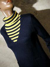 CHIC VINTAGE ROBE JERSEY 1960 VTG DRESS 60s MOD TWIGGY SCOOTER KLEID 60er (36/38