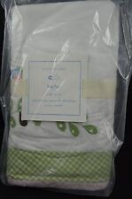 "Pottery Barn Baby Kids Hayley Crib Skirt Green Pink 16"" Drop #9"