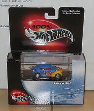 2002 Hw Hot Wheels 100% 1966 Volkswagen Vw Bug Black Box Collectors #14