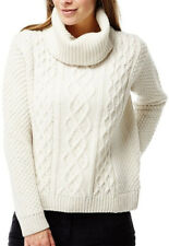 Craghoppers Anja Roll Neck Womens Sweater Cream Knitted Wool Blend Jumper 10 12