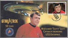 2016, Canada FDC, Star Trek, Montgomery Scotty Scott, 16-023