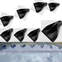 8Pcs Fit carbon fiber Vortex Generator Shark Fin Spoiler Wing Roof Trunk Black