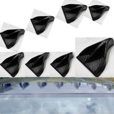 8Pcs Fit carbon fiber Vortex Generator Shark Fin Spoiler Wing Roof Trunk Black