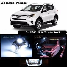 8PCS Cool White Interior LED Bulbs Package Kit for 2006 - 2016 Toyota RAV4
