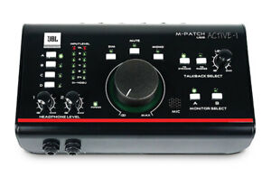 Like N E W JBL M-Patch Active-1 USB Interface Studio Monitor Controller