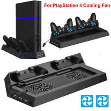 For PS4 Pro/Slim Vertical Stand Cooling Fan Controller Charging Dock Station New