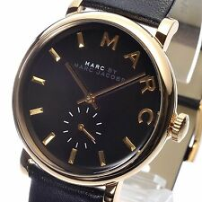 Marc Jacobs Ladies Baker Gold Black Watch MBM1269