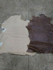 Italian Sheepskin short hair on hide Double Face Beige/ Brown 9 Sq.Ft.
