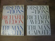Richard Avedon/Truman Capote - OBSERVATIONS 1st/1st HC 1959 slipcase photography